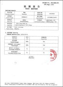 Сертификат за A193 B8M CL2
