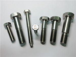 Бр.25-Инколој a286 хексадецитни завртки 1.4980 a286 сврзувачки елементи gh2132 нерѓосувачки челик машина за завртки за завртки