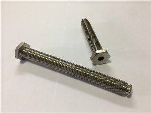 Бр.64-шуплив зацврстувач на титаниум со легура на титаниумска легура 6Al4V глава за миење садови Ален клуч
