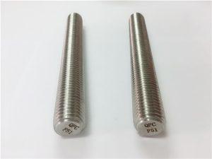 Бр.77 Дуплекс 2205 S32205 сврзувачки елементи од не'рѓосувачки челик DIN975 DIN976 шипки со навој F51