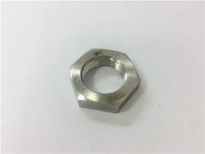 Бр.93- A2 A2-70 A2-80 A4 A4-70 A4-80 SS304 SS316 Не'рѓосувачки челик SS шекс тенок орев DIN936